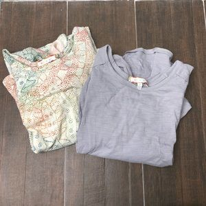 Anthropologie (2) billowy sleeve tops